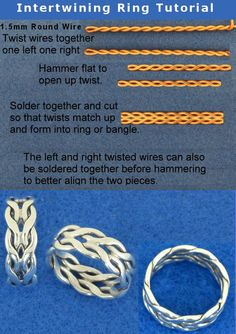 Sooo beautiful and clever !!! :) Intertwining Ring Tutorial by *harlewood on deviantART