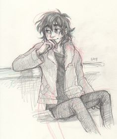 Nico Di Angelo! By burdge. He's smiling!!