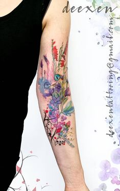 Curiouser And Curiouser Ink Inked Tattoo Tatouage Art - Coloring Page Ideas Cover Up Tattoos, Body Art Tattoos, Cool Tattoos, Tatoos, Tattoo Designs And Meanings, Tattoos With Meaning, Tattoo Schulter Frau, Unique Half Sleeve Tattoos, Watercolor Tattoo Sleeve