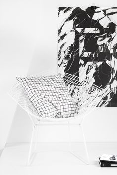 DROOL. Harry Bertoia diamond chair | playtype faux marble poster | square pillow