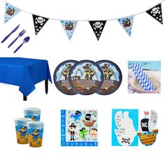 All this Pirate Party Supplies Pack, Blue Pirate Tableware Kit for 8 persons includes: (You could choose to buy the whole kit for 12 persons, or just buy the part of it, or even multiple kits, which depends on your needs) #etsy #gentlemanpirateclub #piratethemed #partyflavors #piratedecor Pirate Party Supplies, Pirate Party Favors, Pirate Party Invitations, Lego Invitations, Invitation Cards, Superhero Birthday Cake, Star Wars Birthday, Star Wars Party, Birthday Cakes