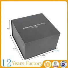 Custom luxury black hat packaging snapback box