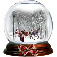 """Snow globe"" by barbarapoole on Polyvore"