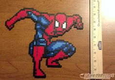 Spiderman perler bead sprite by Hirosspriteshop