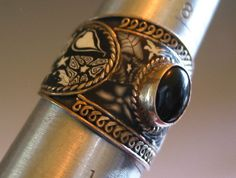 Vintage Silver handmade Black and White Bold  by SusanSorrentino, $25.00