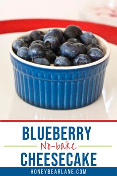 This is a fun dessert that is very quick and easy and delicious. You can make a whole bunch in a cake dish or individual ones like this! But the best part is that it's almost completely non-fat. Easy no-bake cheesecake. Cheesecake recipes no bake. Mini blueberry cheesecake no bake. Healthy Dessert Options, Easy Desserts, Easy Dinner Recipes, Dessert Recipes, Easy No Bake Cheesecake, Blueberry Cheesecake, Cheesecake Recipes, Best Cake Recipes, Other Recipes