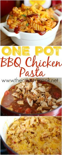 One Pot BBQ Chicken Pasta recipe from The Country Cook. One of my new favorite things to make! Sweet Baby Ray's BBQ sauce makes this dish! And of course I love that it's all made in one dish. I don't even have to cook the pasta ahead of time. Amazing!