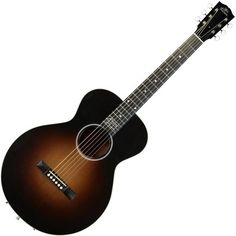 Gibson Robert Johnson L-1 Acoustic Guitar, Vintage Sunburst ($2,935) ❤ liked on Polyvore featuring fillers, music and guitar