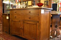 Mission Oak Sideboard with back mirror / by OakParkAntiques