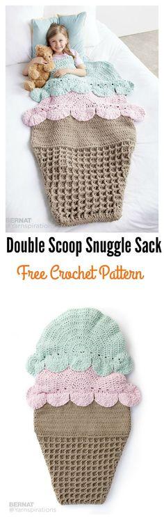 Crochet Double Scoop Snuggle Sack Free Pattern & Video Tutorial