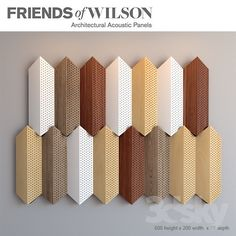 3d models: Other decorative objects - Friends of Wilson acoustic panels