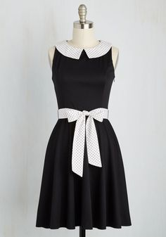 Play on Wordsmith Dress. Give a gleeful twirl in this black dress upon earning another point for your team at game night. #black #modcloth