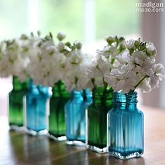 easy craft: paint the inside of glass containers to make vases