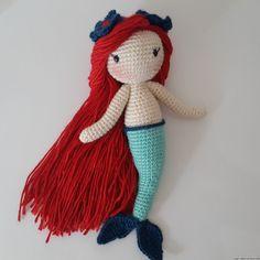 Amigurumi Deniz Kızı ,  #amigurumidenizkızı #amigurumioyuncak , Amigurumi Örgü Kucuk Deniz kizi   ...