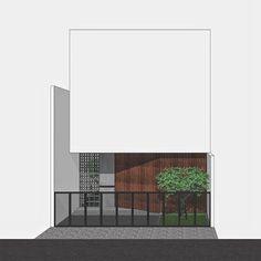 art minimaliste et l'architecture Brick Architecture, Minimalist Architecture, Interior Architecture, Architecture Images, Architectural Scale, Japan Interior, Small Modern Home, Small House Design, House Entrance