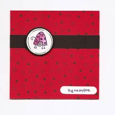 Lady Bug Card by CharlotteS - Cards and Paper Crafts at Splitcoaststampers