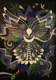 flox2 Maori Patterns, Bird Patterns, Mosaic Patterns, Print Patterns, Stencil Printing, Stencil Art, Stencils, Nz Art, Maori Art