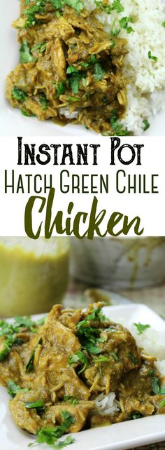 Instant Pot Hatch Chile Chicken - Instant Pot Hatch Chile Chicken Shredded chicken cooked to perfection in a spicy Hatch green chile sauce and shredded to serve over rice – easily made in the Instant Pot! Hatch Recipe, Hatch Green Chili Recipe, Green Chili Recipes, Hatch Chili, Hatch Chile Salsa, Instant Pot Pressure Cooker, Pressure Cooker Recipes, Slow Cooker, Healthy Chicken Recipes