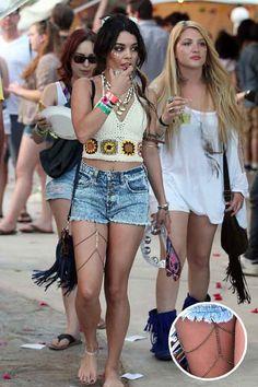 Vanessa Hudgens celebrity styled leg chain body by FashionJanes, $17.00