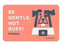Fragile Sticker WIP by Josh Brill