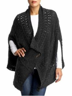 Cable Cape Sweater   by Free People