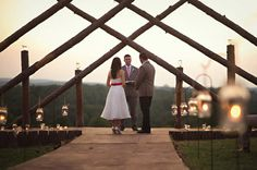 The location was special because it was on her family's farm, and her dad built the arch that they were married on.