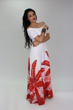 Polynesian Inspired Evening Dress/ Don't forget Sinchi™ & knotted pearls / Be Chic!