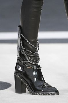 Celebrities who wear, use, or own Chanel Chain Embellished Leather Boots. Also discover the movies, TV shows, and events associated with Chanel Chain Embellished Leather Boots. High Heel Boots, Heeled Boots, Bootie Boots, Shoe Boots, Ankle Boots, Biker Boots, Combat Boots, Chanel Boots, Tommy Hilfiger