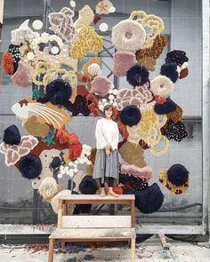 This Portuguese Artist Uses Textile Waste To Create Beautiful Ocean Inspired Tapestry ----------------------------------------------------------------------textile art, textile tapestry, upcycled art, modern textiles, contemporary textiles Art Fibres Textiles, Textile Fiber Art, Textile Artists, Weaving Art, Tapestry Weaving, Textile Tapestry, Recycled Rugs, Recycled Tires, Recycled Furniture