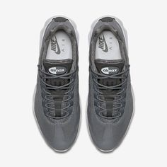 hot sale online 5a25a 6bc0d Chaussure Nike Air Max 95 Pas Cher Homme Ultra Essential Gris Froid Blanc  Blanc