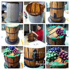 Coolest Wine Barrel Cake... This website is the Pinterest of birthday cake ideas