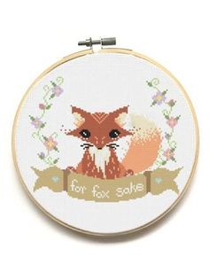 Resultado de imagen para for fox sake cross stitch pattern free