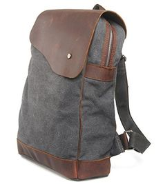 iBaste Leather Rucksack Laptop and Camera Backpack Fashion School Bag for Teens Vintage Satchel Messenger Bag (Grey)  - Click image twice for more info - See a larger selection of Girls teen  backpacks at http://kidsbackpackstore.com/product-category/teen-girls-backpacks/ - kids, juniors, back to school, kids fashion ideas, teens fashion ideas,  school supplies, backpack, bag , teenagers,  boys, gift ideas