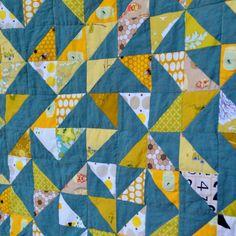 Yellow Baby Quilt Modern Baby Quilt Yellow Crib by TwiggyandOpal