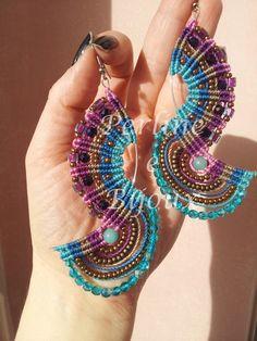"Macramè earrings ""Joan"" (design by Claudia Cattaneo)"