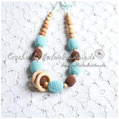 SALE Teething necklace / nursing necklace & by GerberaHandmade