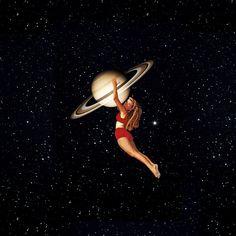 Girl From Saturn Art Print by Serra Kiziltas - X-Small Retro Kunst, Retro Art, Universe Art, Galaxy Universe, Pierrot, Funky Art, Galaxy Art, Psychedelic Art, Surreal Art
