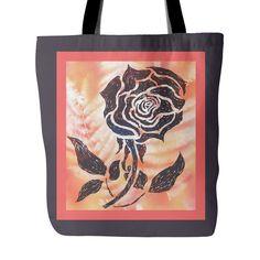 #1 American Beauty Rose Tote Bag