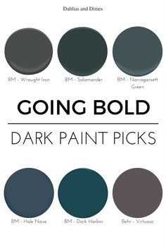 Though I have fresh, bright spring colors on my mind, I want to highlight one of my favorite moody trends before I'm knee deep in all things bright and white. via I'm guilty of following the crowd and painting most walls in my home white or light gray. There's much to be said for a crisp, […]