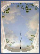 60 Ideas how to paint clouds on a wall ceilings for 2019 Sky Ceiling, Ceiling Murals, Mural Wall Art, Ceiling Decor, Ceiling Design, Ceiling Painting, Mural Painting, Art Decor, Room Decor