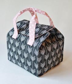 Custom Insulated Bento Box Carrier / Lunch Tote / by binskistudio