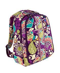 Vera Bradley backpack diaper bag. O, I wish!