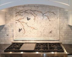 I could make something and have that placed on the wall. Instead of the entire wall being the mosaic