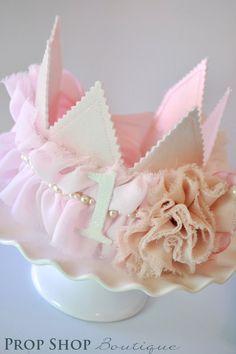Girl Shabby Chic Pretty Princess Crown, Birthday, Special Occasion, Photo Prop. $35.00, via Etsy.