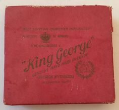 VINTAGE LIVE PACKET OF KING GEORGE EGYPTIAN CIGARETTES | eBay