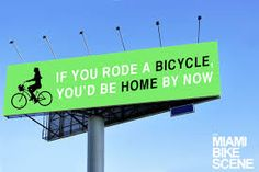 if you rode a bicycle...