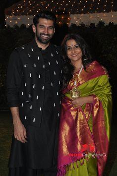 Aditya Roy Kapur Vidya Balan Grace The Wedding Reception Of Ronnie Screwvalas Daughter