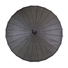 Koyal Color Paper Parasol, 32-Inch, Black