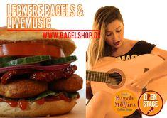 Leckere #Bagels & #LiveMusic heute bei uns im Fresh Bagels & Muffins ab 18 Uhr 😋  #bagelshop #burgerbagel www.bagelshop.de