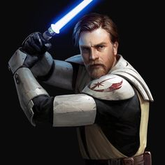 A Tribute to Obi-Wan Kenobi - A selfless champion, and only Knight of his era to kill a true Sith Lord in battle without ever falling to the Dark Side. (Art by Darren Tan) - StarWars Star Wars Clone Wars, Star Wars Saga, Star Wars Clones, Star Trek, Star Wars Fan Art, Images Star Wars, Star Wars Pictures, Sith Lord, Jedi Sith